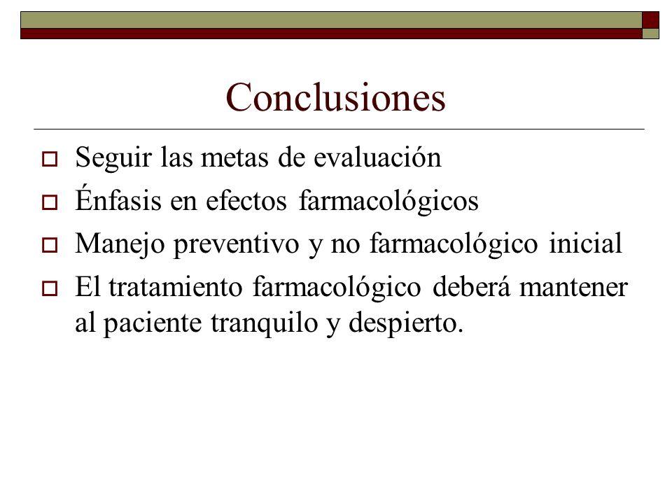 Conclusiones Seguir las metas de evaluación