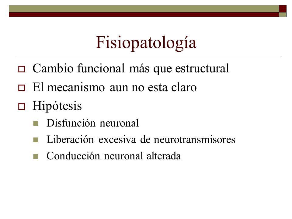 Fisiopatología Cambio funcional más que estructural