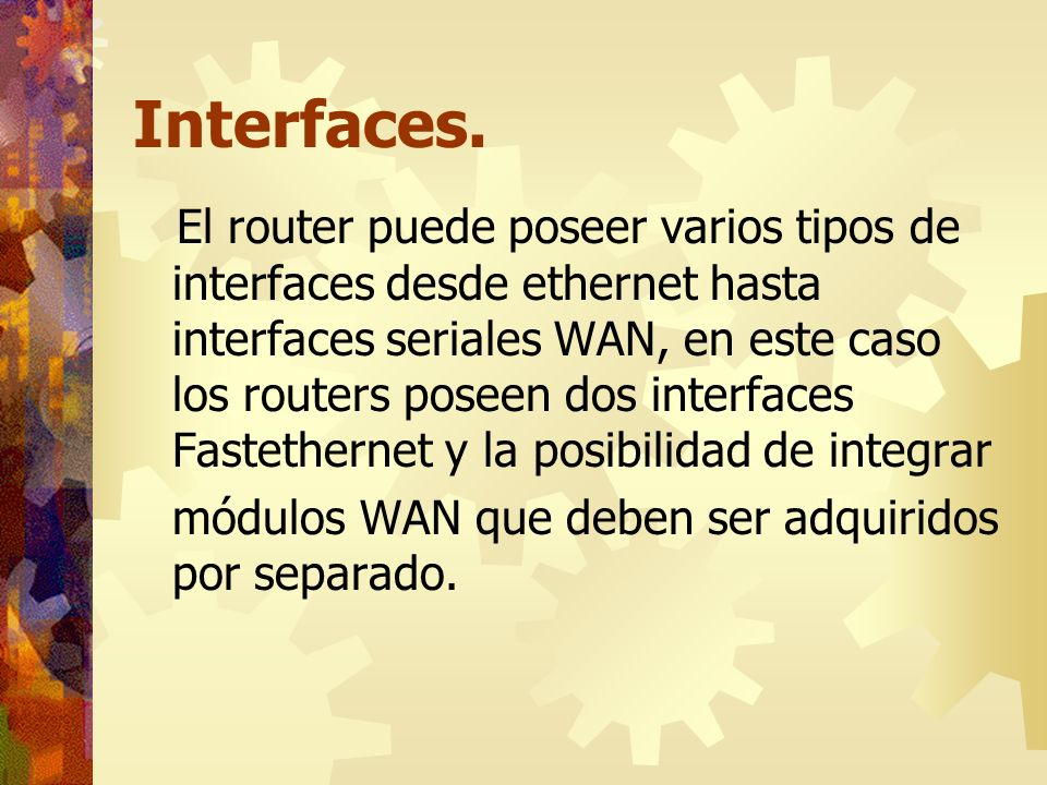 Interfaces.