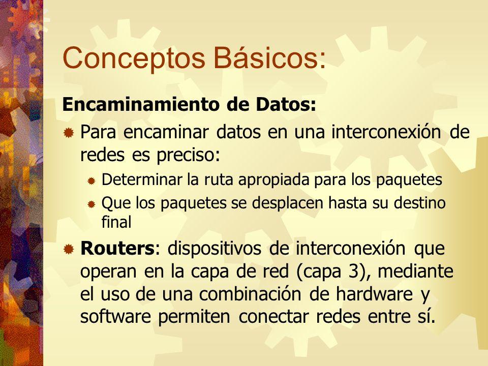 Conceptos Básicos: Encaminamiento de Datos: