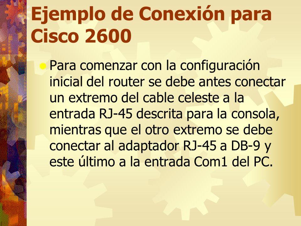 Ejemplo de Conexión para Cisco 2600