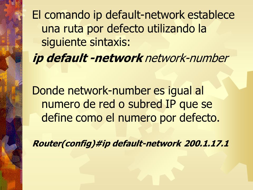 ip default -network network-number