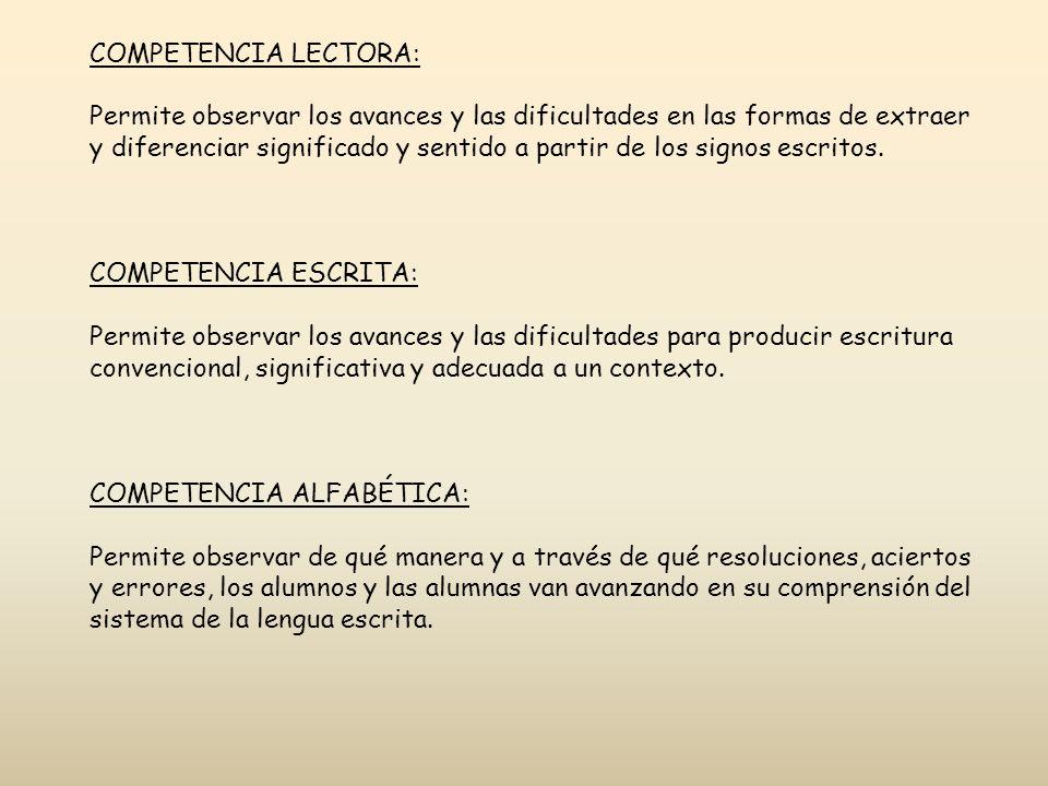 COMPETENCIA LECTORA:
