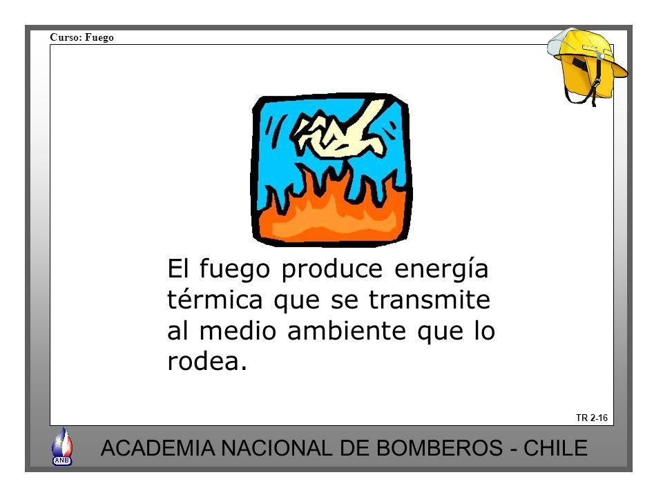 El fuego produce energía térmica que se transmite