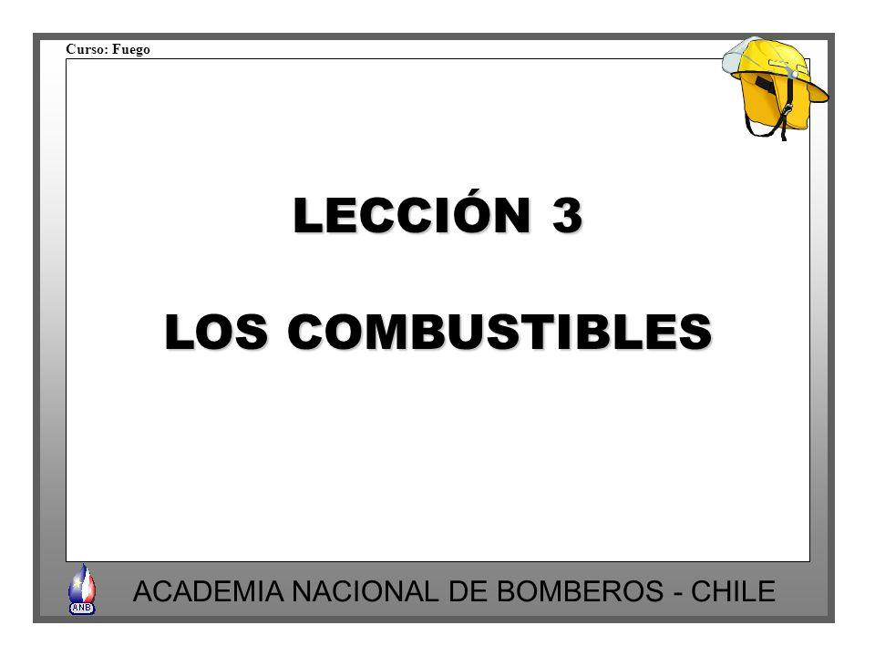 LECCIÓN 3 LOS COMBUSTIBLES