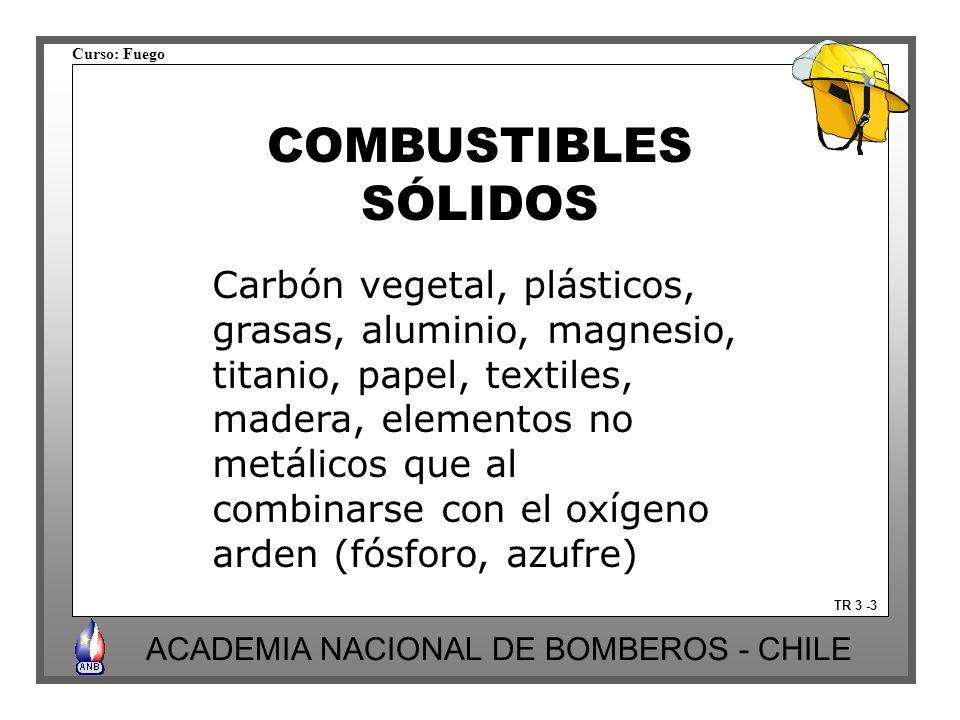 COMBUSTIBLES SÓLIDOS Carbón vegetal, plásticos,