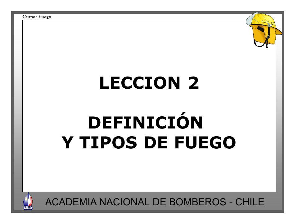 LECCION 2 DEFINICIÓN Y TIPOS DE FUEGO