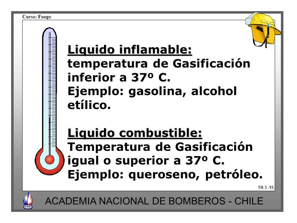 temperatura de Gasificación inferior a 37º C.