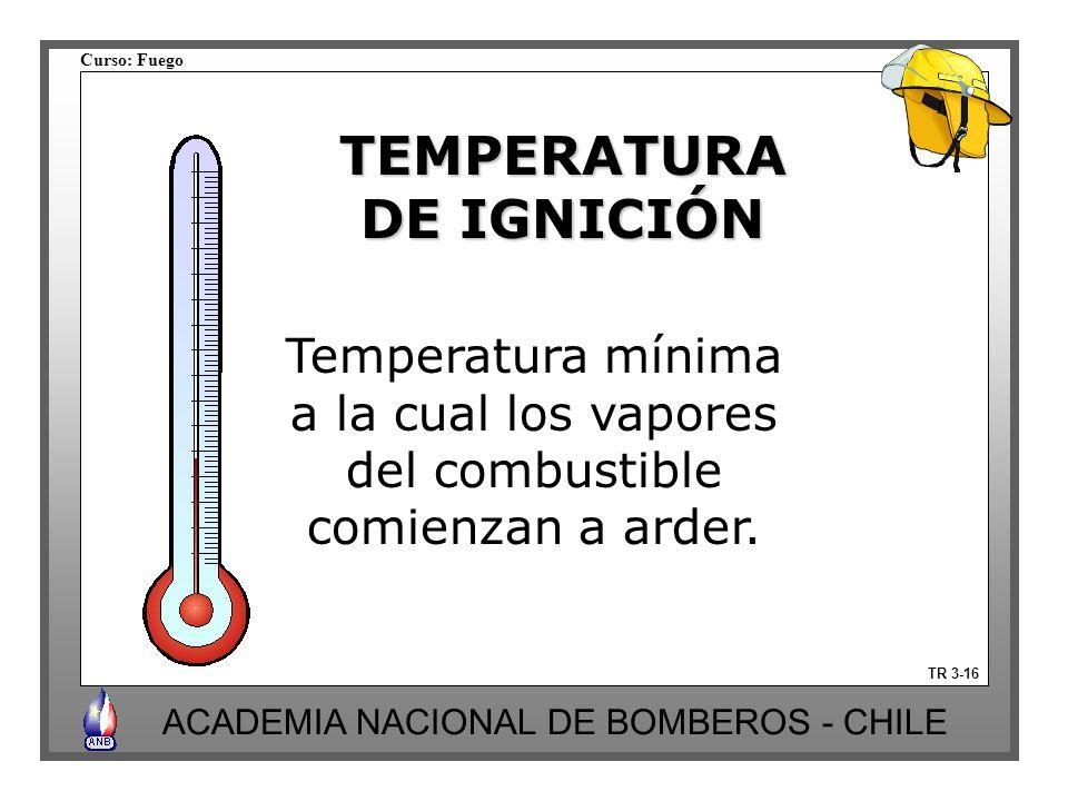 TEMPERATURA DE IGNICIÓN
