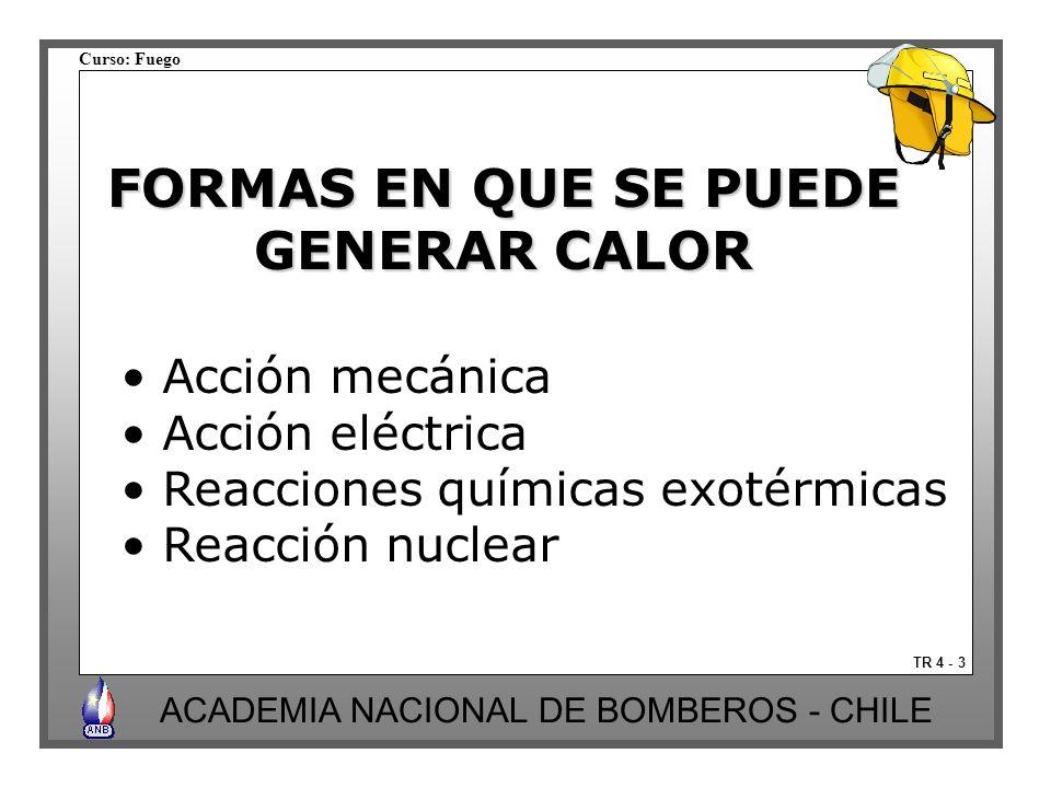 FORMAS EN QUE SE PUEDE GENERAR CALOR