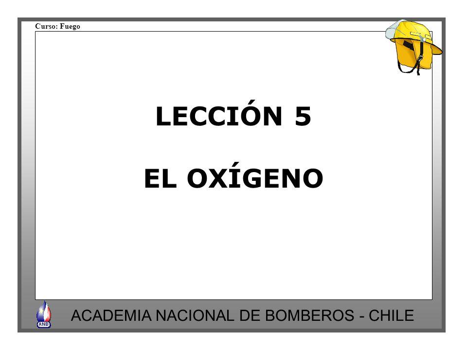 LECCIÓN 5 EL OXÍGENO