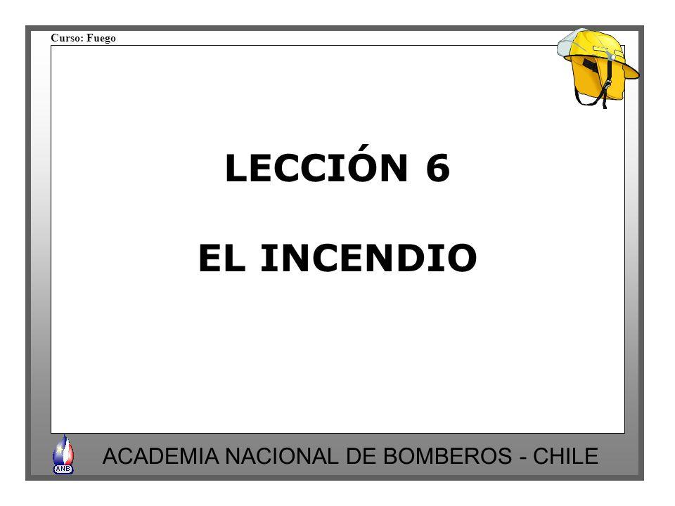 LECCIÓN 6 EL INCENDIO