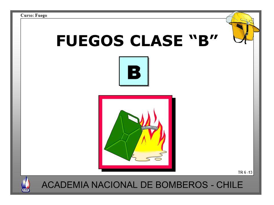 FUEGOS CLASE B TR 6 -13