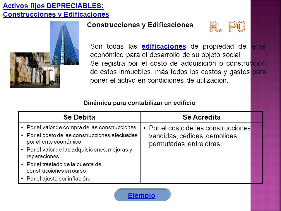 R. p0 Activos fijos DEPRECIABLES: Construcciones y Edificaciones