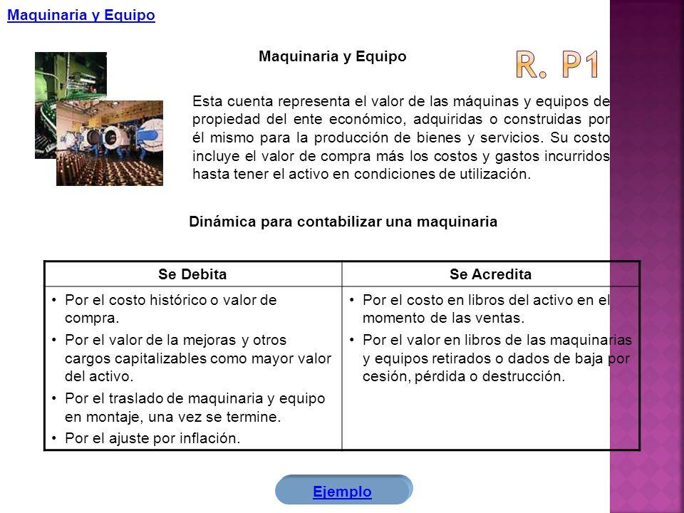R. p1 Maquinaria y Equipo Maquinaria y Equipo