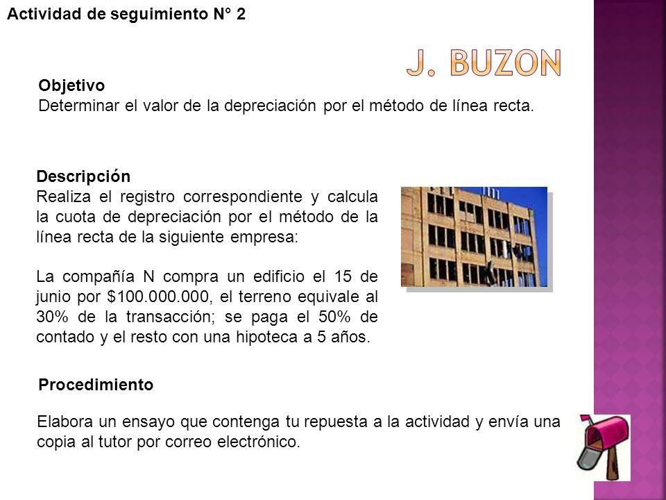 J. buzon Actividad de seguimiento N° 2 Objetivo