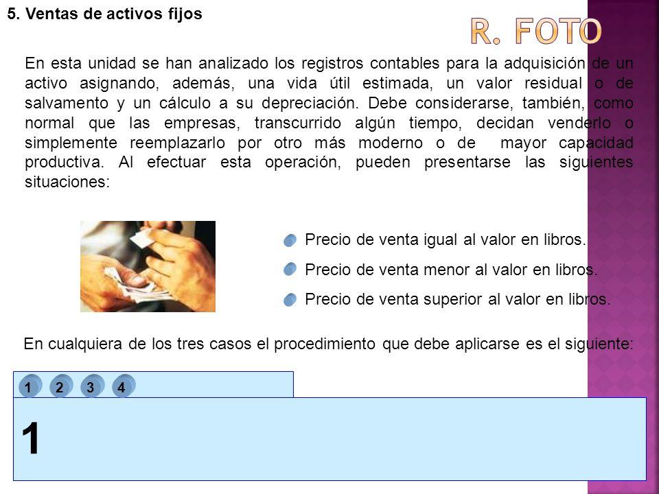 1 R. foto 5. Ventas de activos fijos