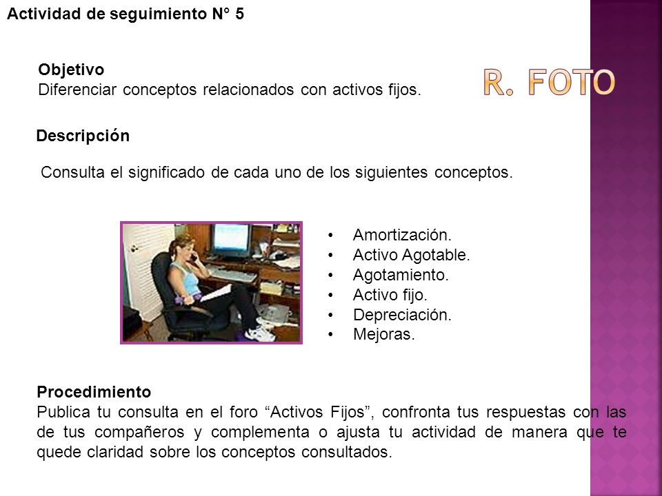 R. foto Actividad de seguimiento N° 5 Objetivo