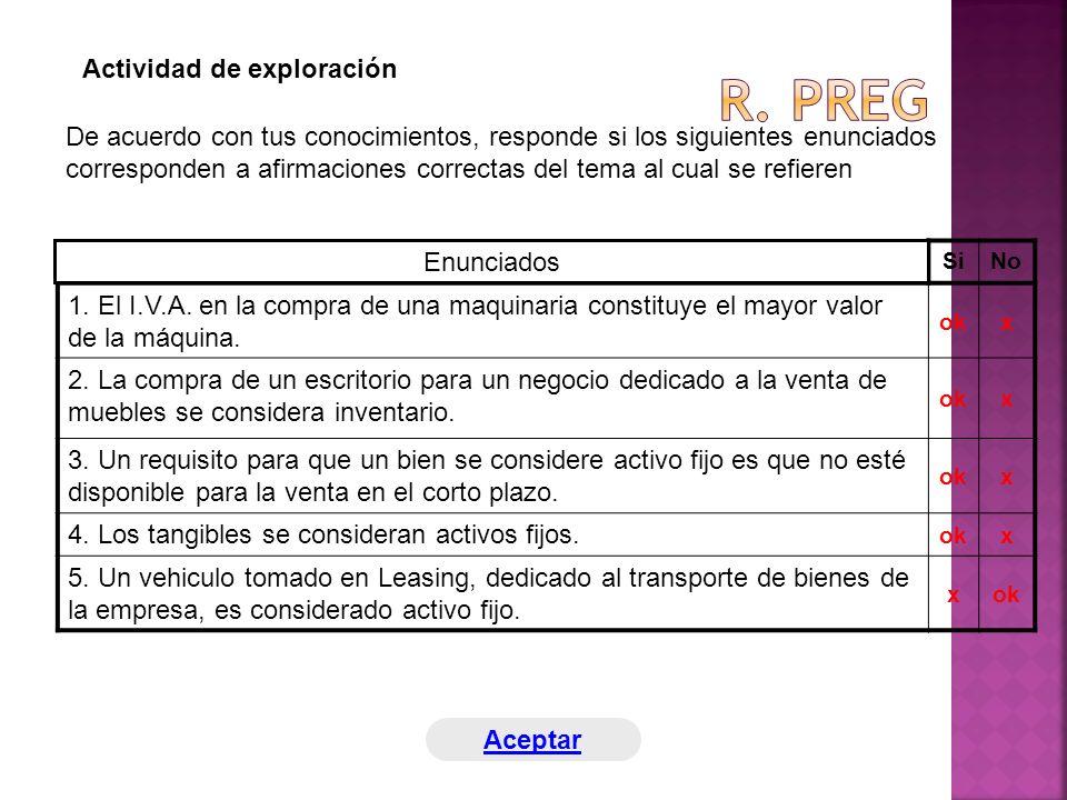 R. preg Actividad de exploración