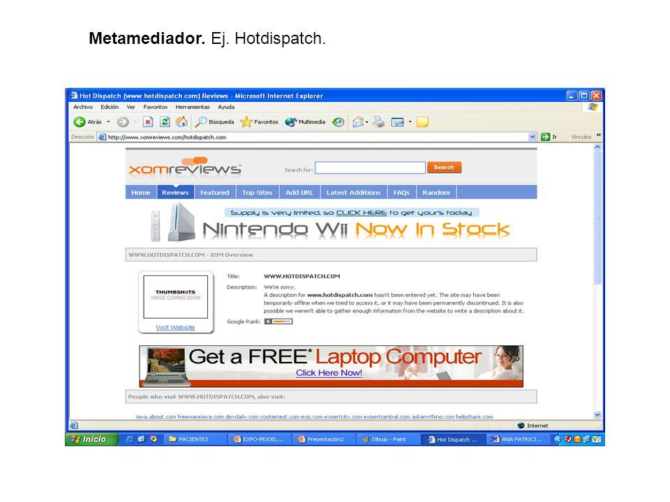 Metamediador. Ej. Hotdispatch.