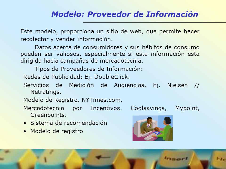 Modelo: Proveedor de Información