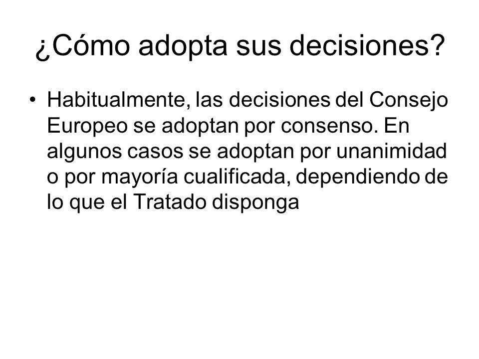 ¿Cómo adopta sus decisiones