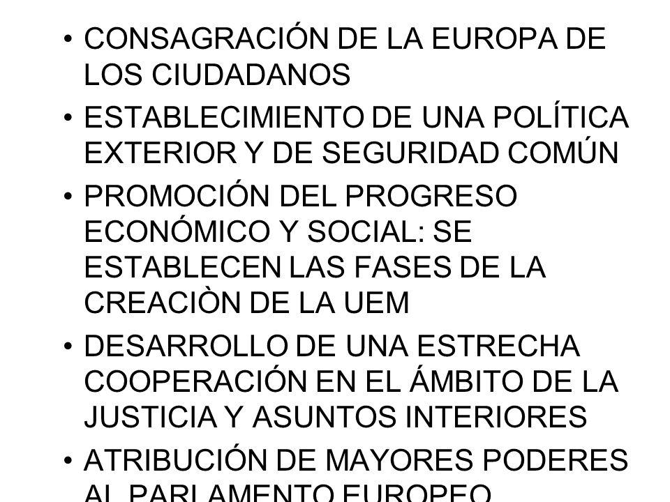CONSAGRACIÓN DE LA EUROPA DE LOS CIUDADANOS