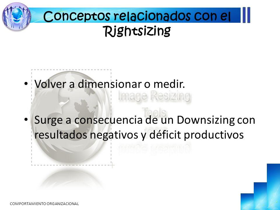 Conceptos relacionados con el Rightsizing