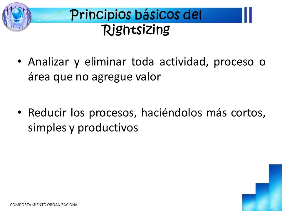Principios básicos del Rightsizing