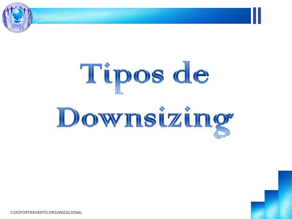 Tipos de Downsizing COMPORTAMIENTO ORGANIZACIONAL