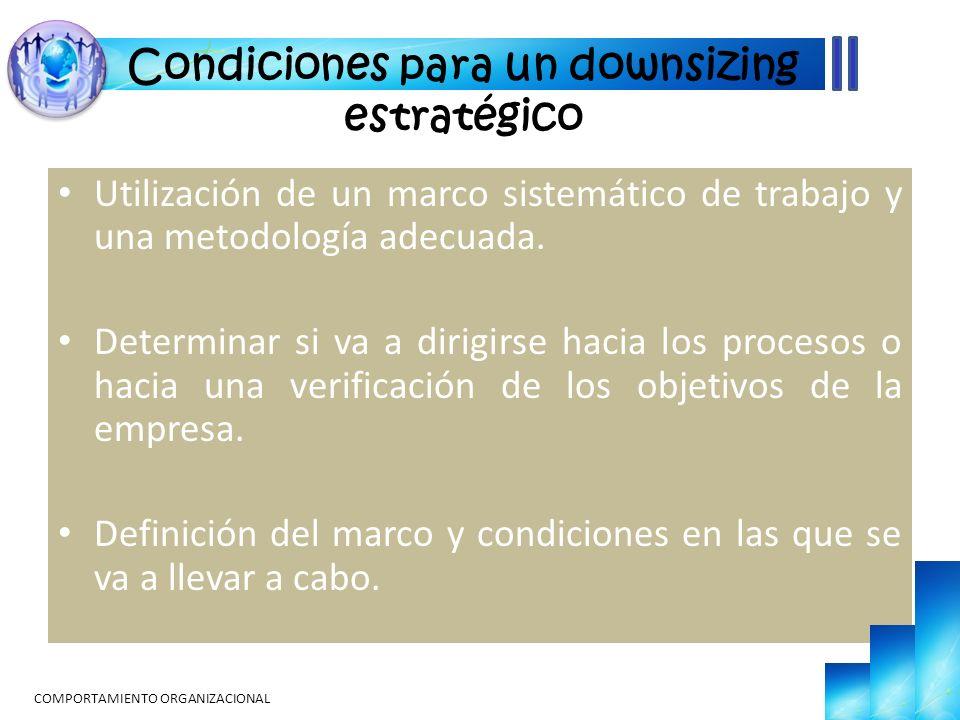 Condiciones para un downsizing estratégico
