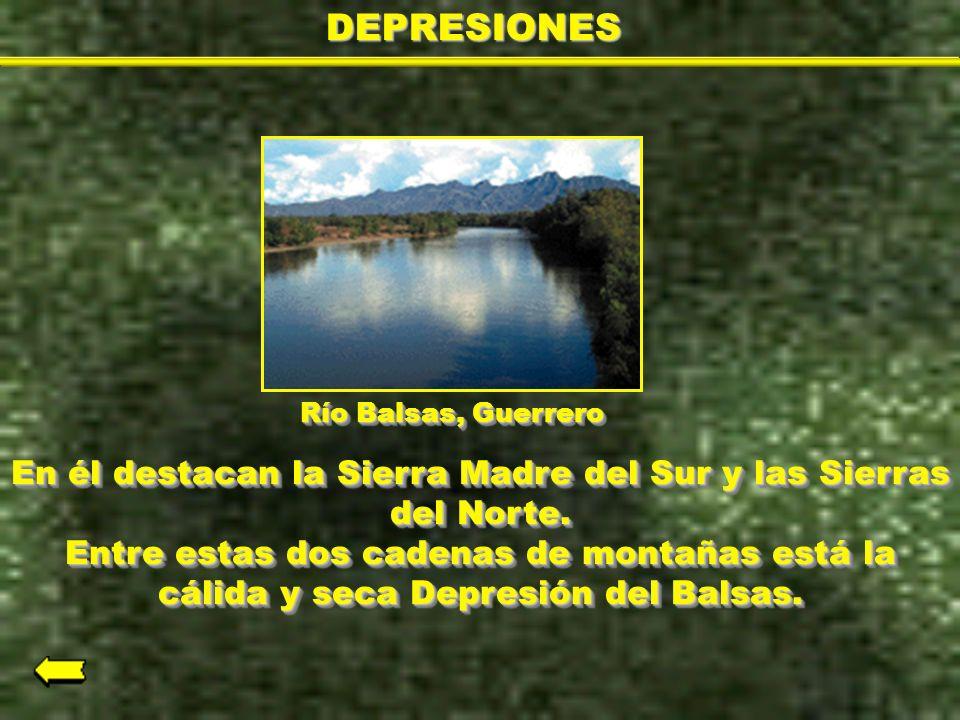 DEPRESIONES Río Balsas, Guerrero.