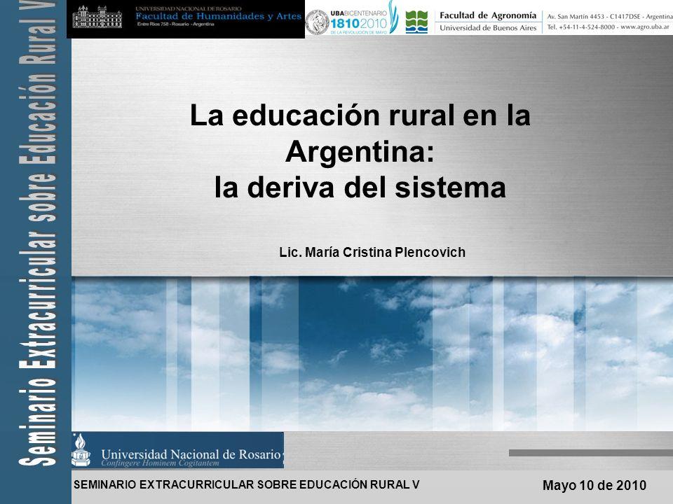 SEMINARIO EXTRA CURRICULAR SOBRE EDUCACIÓN RURAL V