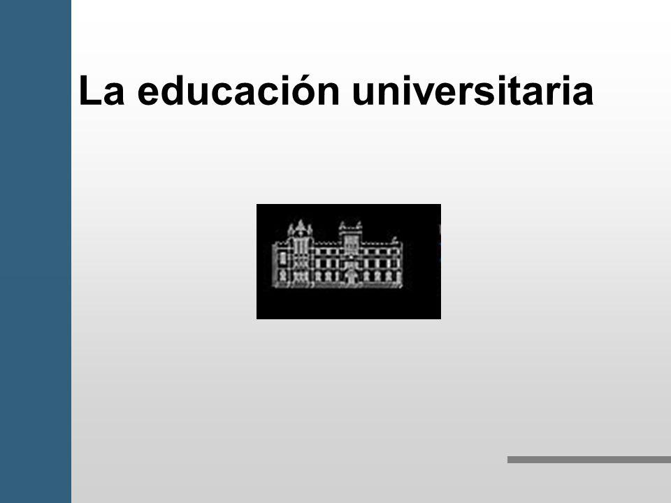La educación universitaria