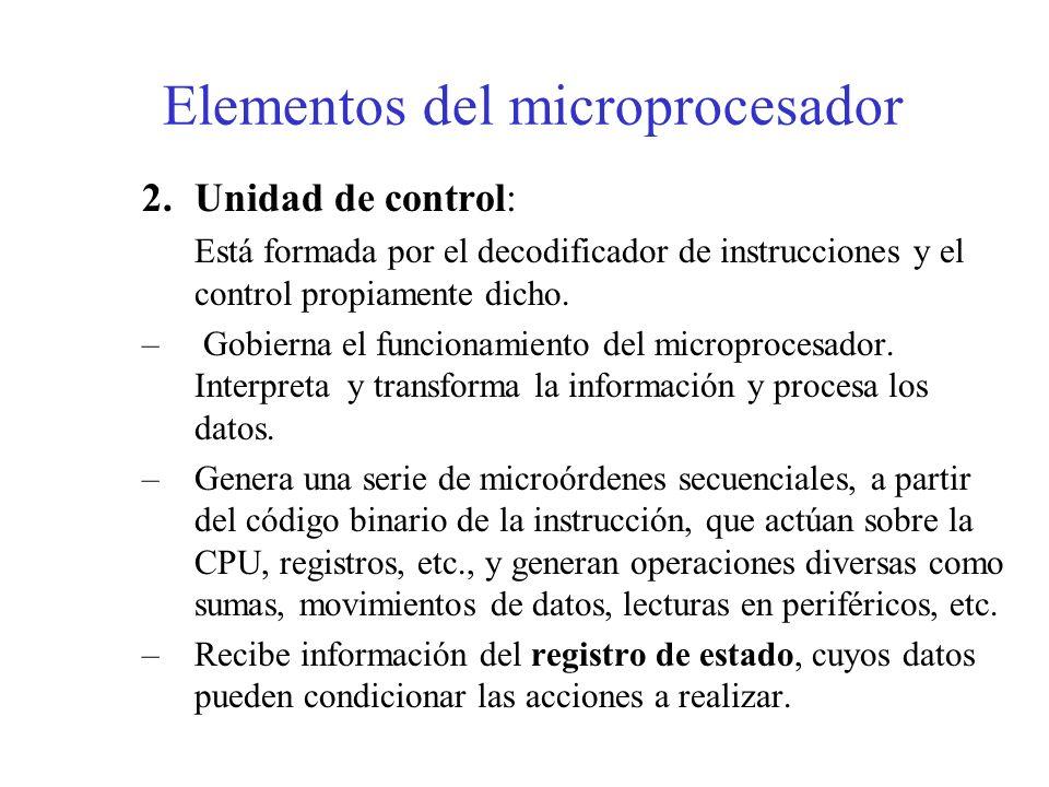 Elementos del microprocesador