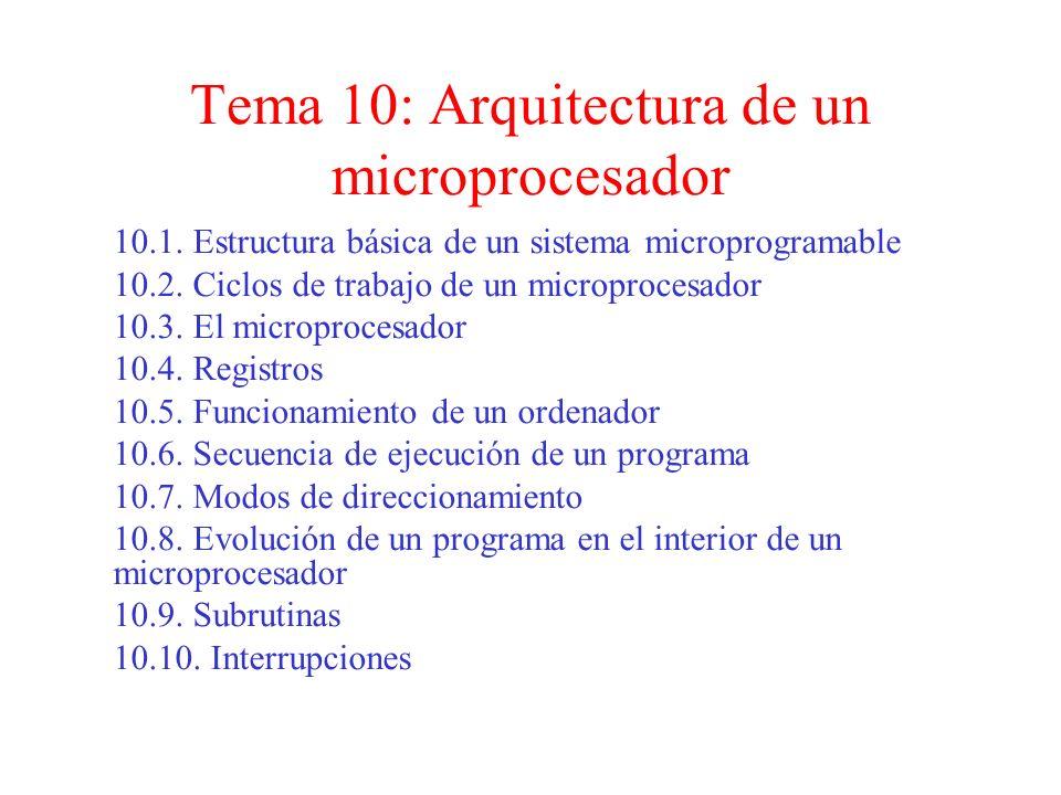 Tema 10: Arquitectura de un microprocesador