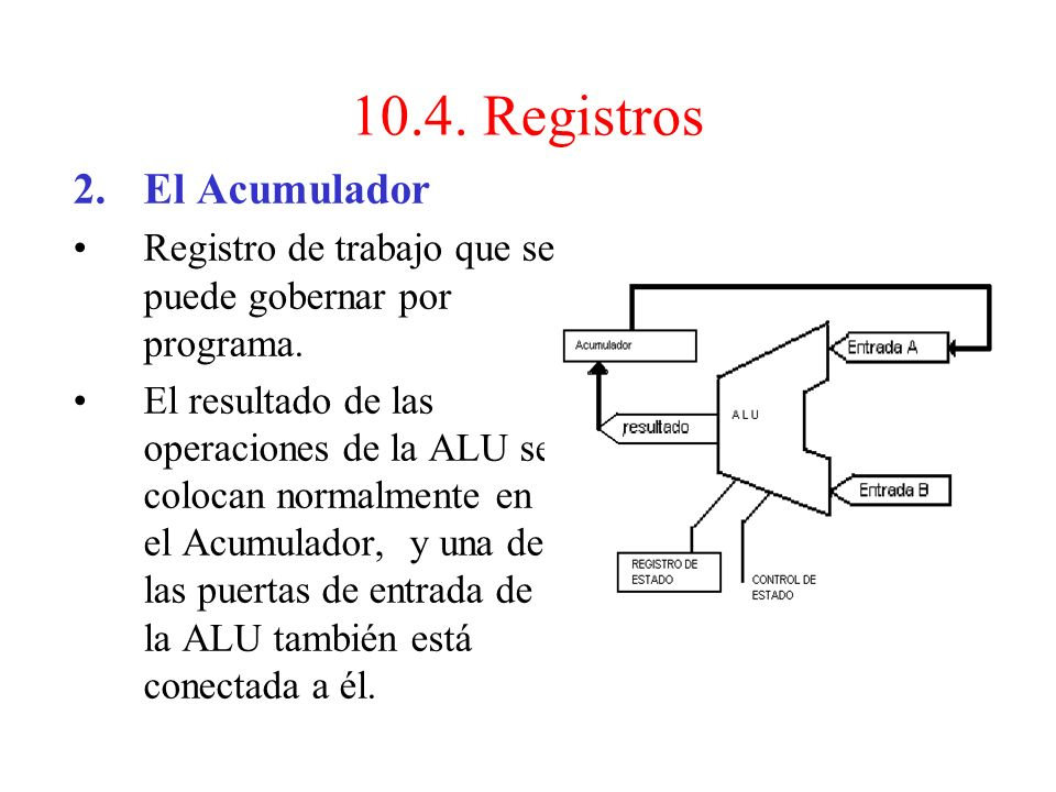 10.4. Registros El Acumulador