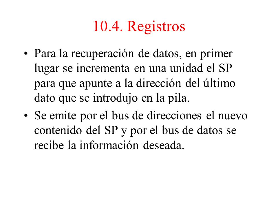 10.4. Registros