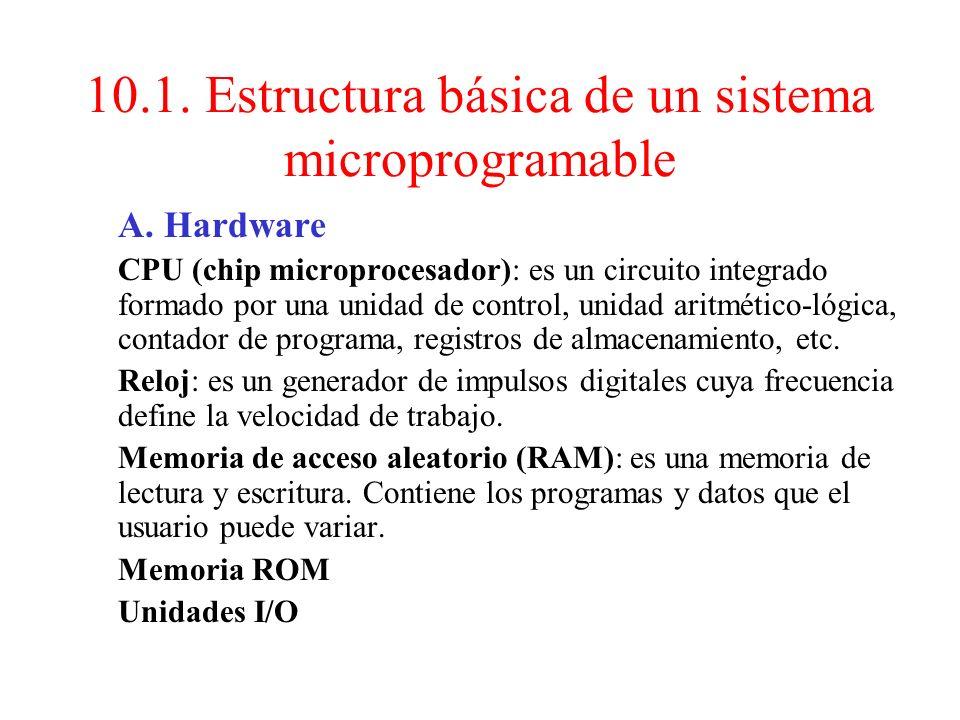 10.1. Estructura básica de un sistema microprogramable