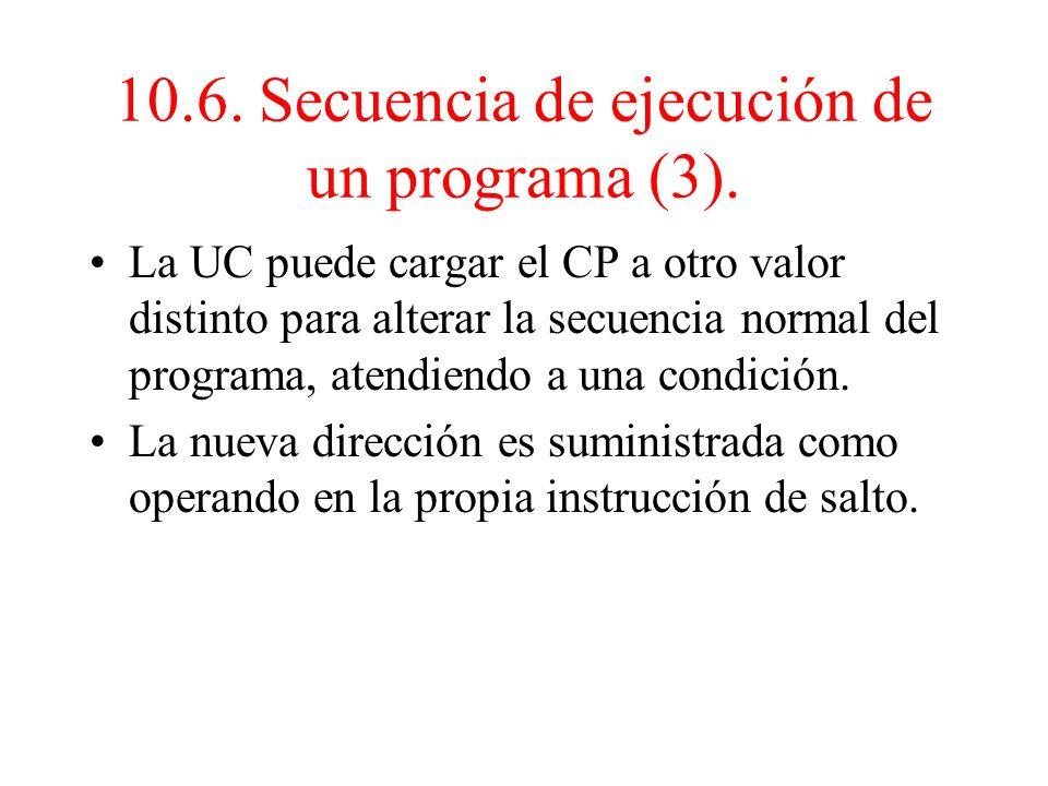 10.6. Secuencia de ejecución de un programa (3).
