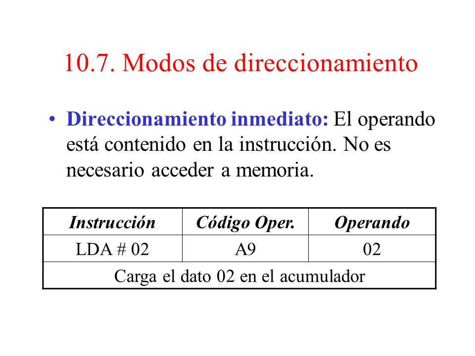10.7. Modos de direccionamiento