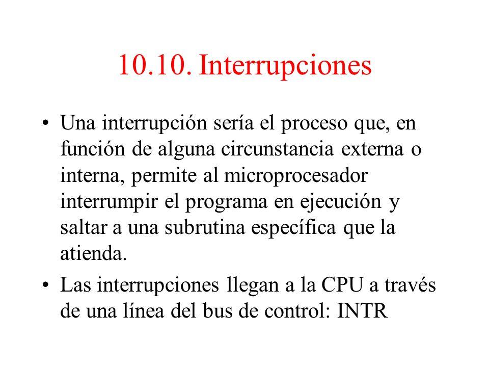 10.10. Interrupciones