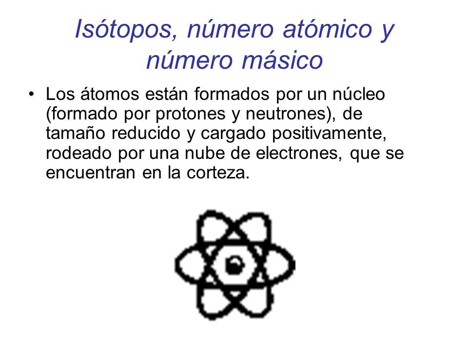 Isótopos, número atómico y número másico