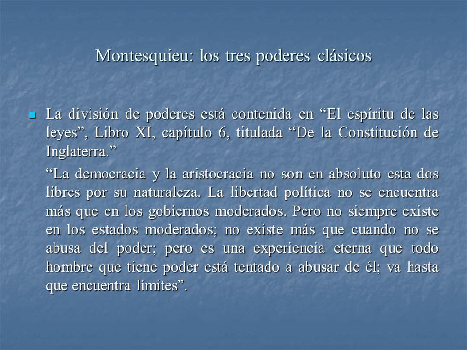 Montesquieu: los tres poderes clásicos