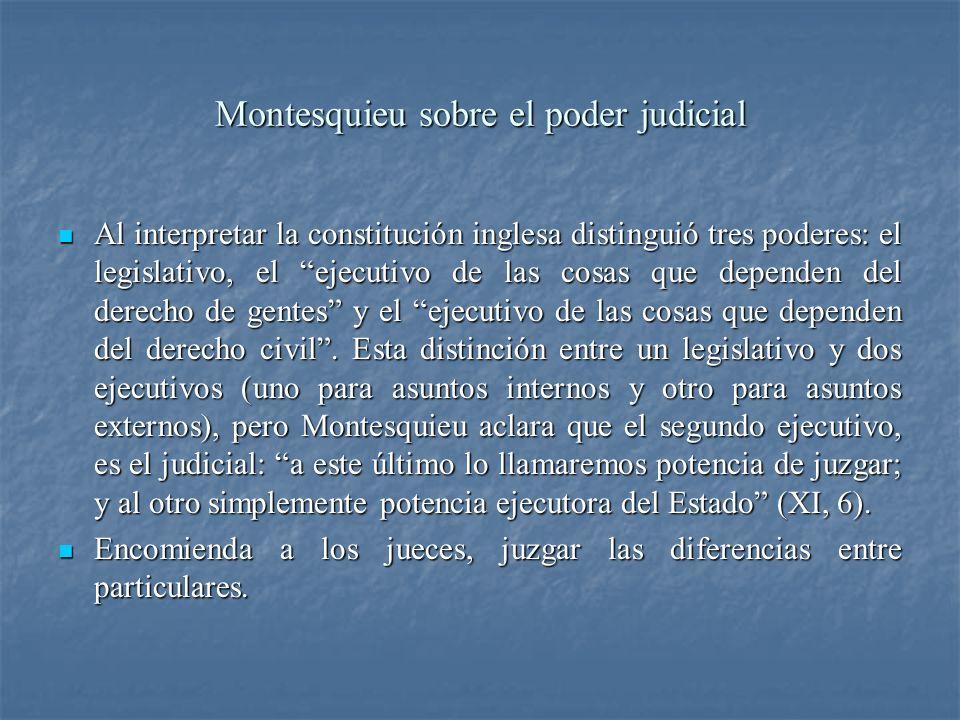 Montesquieu sobre el poder judicial