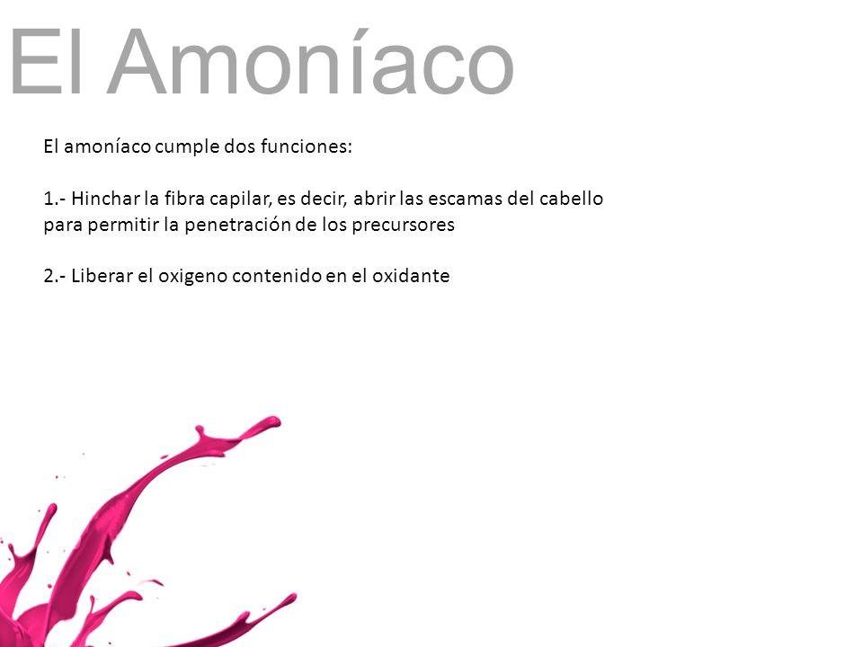 El Amoníaco El amoníaco cumple dos funciones: