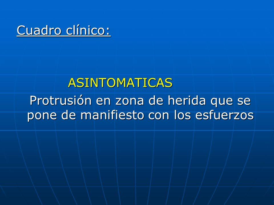 Cuadro clínico: ASINTOMATICAS