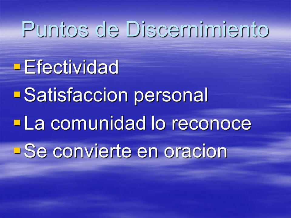 Puntos de Discernimiento