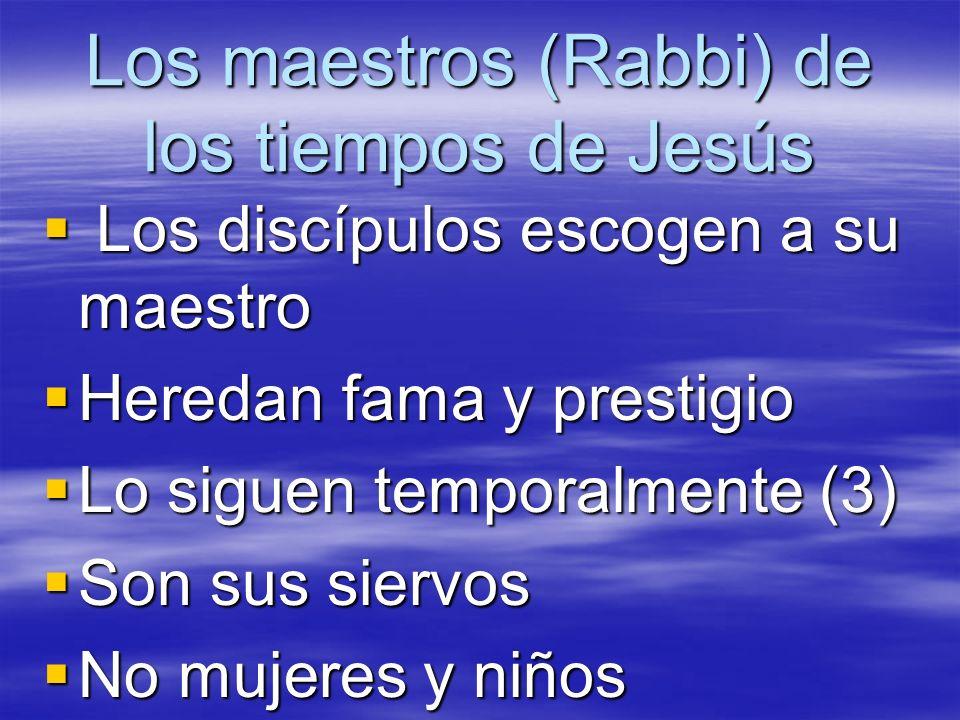 Los maestros (Rabbi) de los tiempos de Jesús