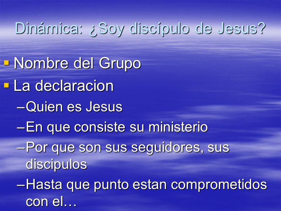 Dinámica: ¿Soy discípulo de Jesus